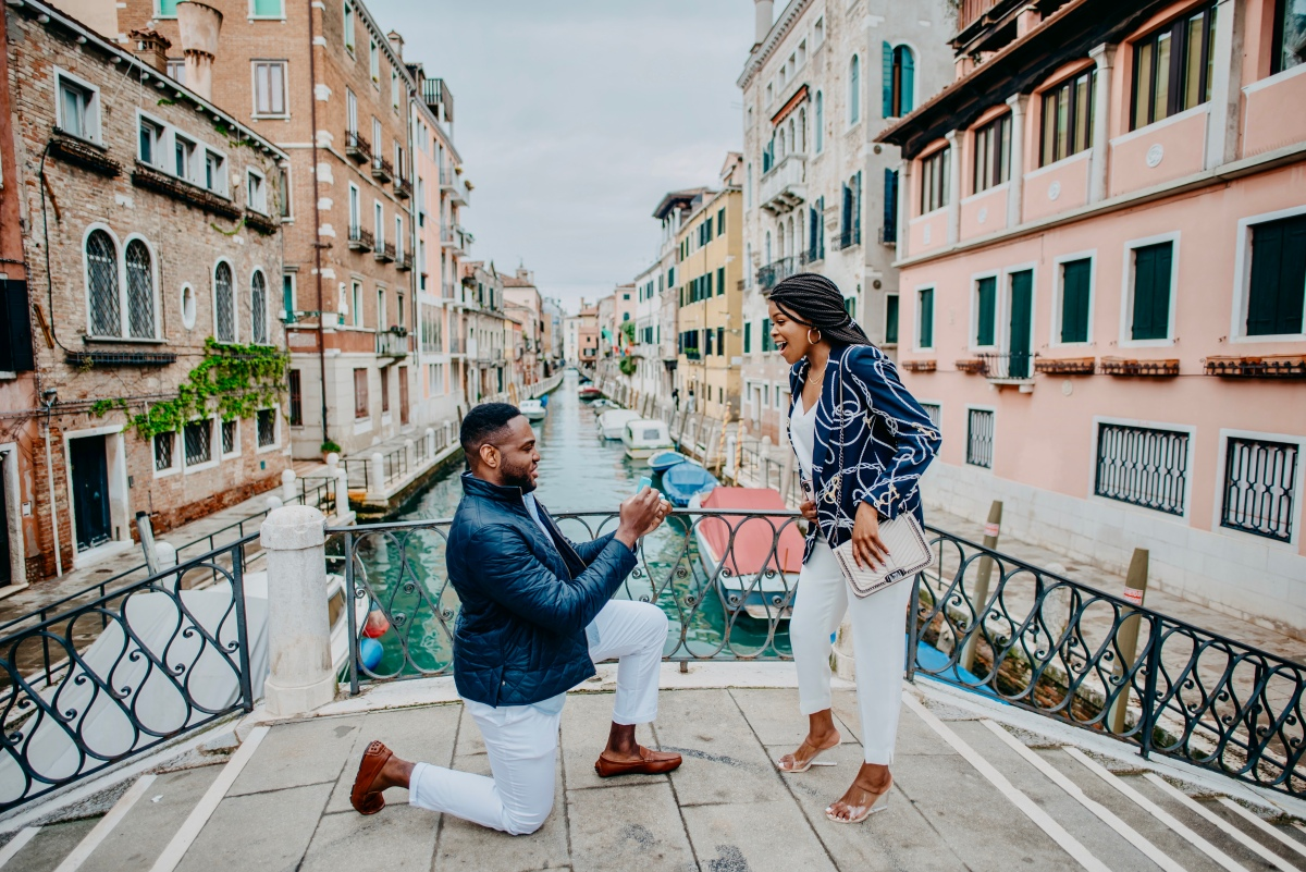 Proposal in Venice, Italy